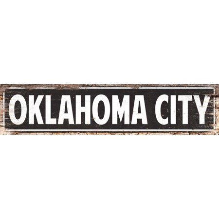 OKLAHOMA CITY  Street Plate Sign Bar Store Shop Cafe Home Kitchen 4180057 - Halloween Stores In Oklahoma