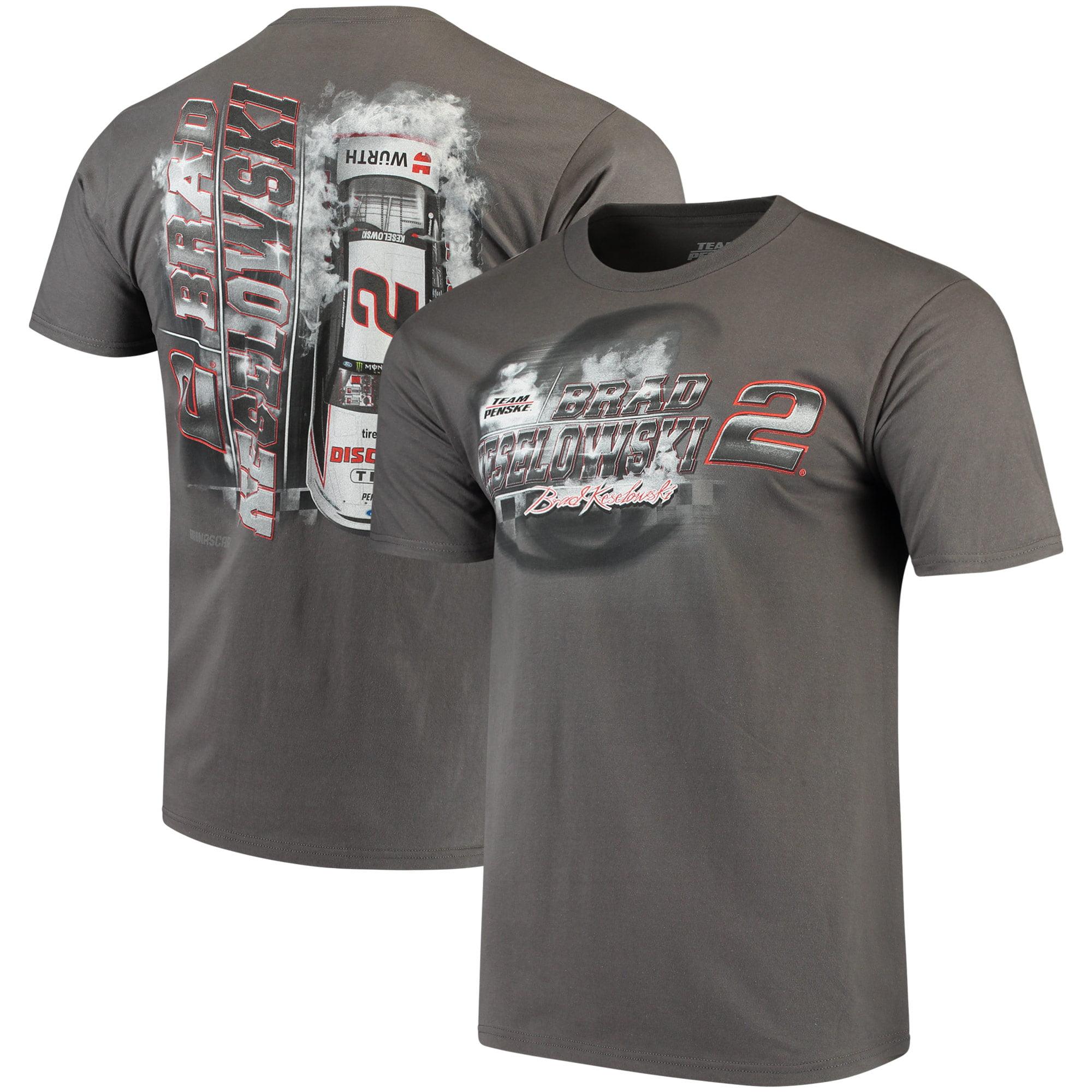 Brad Keselowski Steel Thunder Logo T-Shirt - Charcoal