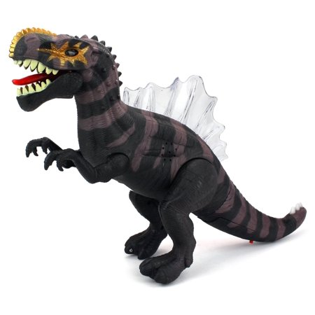Dino Kingdom Spinosaurus Battery Operated Walking Toy Dinosaur Figure w/ Realistic Movement, Lights and Sounds (Colors May Vary)](Dinosaur Kingdom)