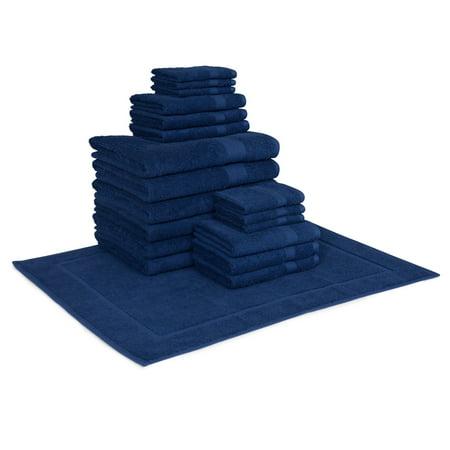 Image of Hillsboro 19 Piece Towel Set in Aqua
