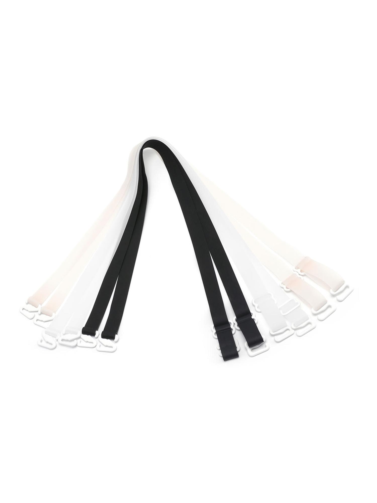2x Adjutable Clear Soft Plastic Invisible Bra Shoulder Straps