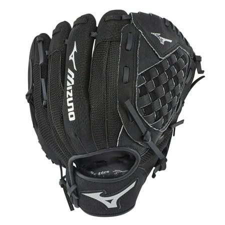 Black Baseball Glove - Mizuno Prospect Series Powerclose 10.5 Inch Right Handed Baseball Glove, Black