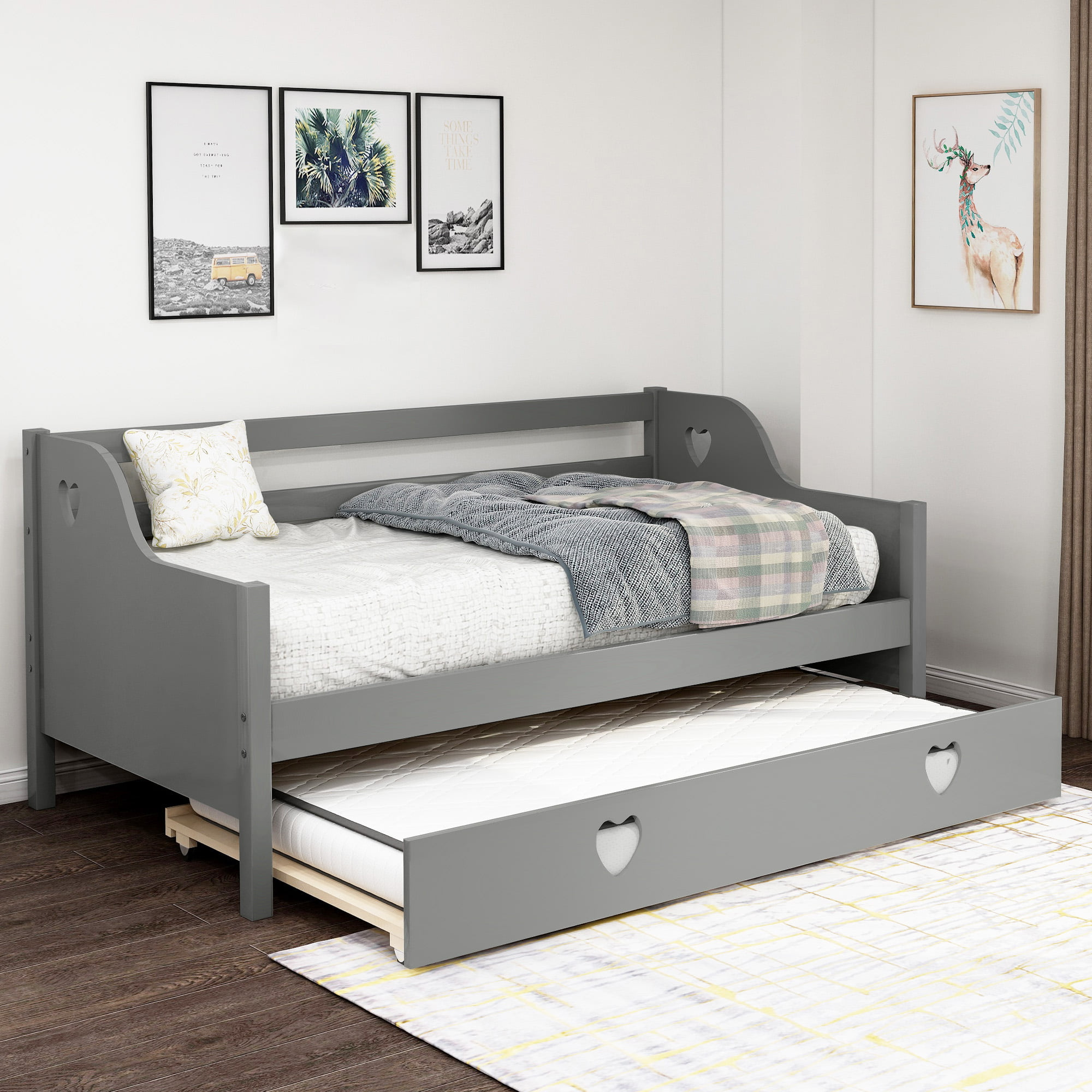 - Twin Daybeds For Adults, URHOMEPRO Twin Daybed With Trundle, Heavy