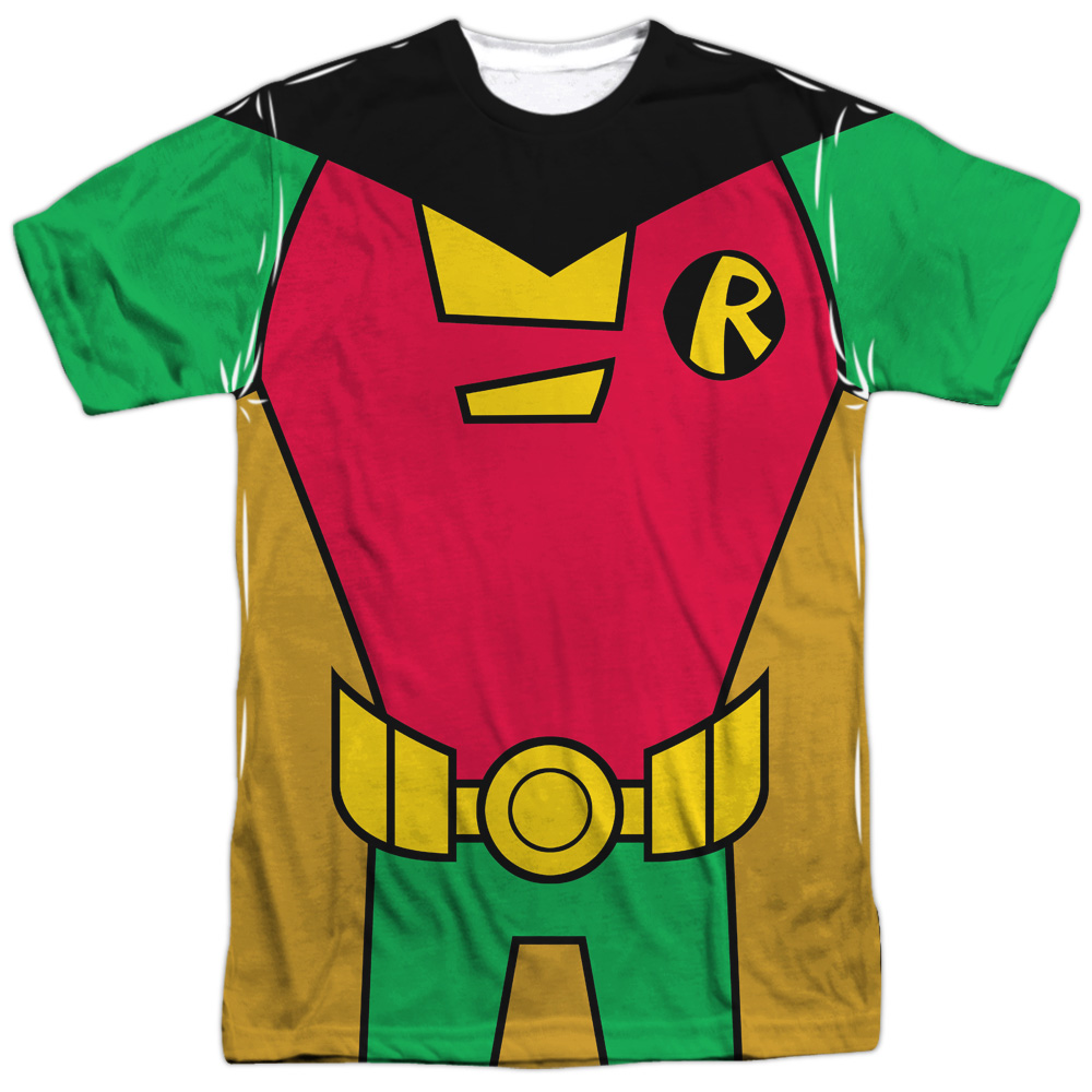Teen Titans Go Robin Uniform Mens Sublimation Shirt