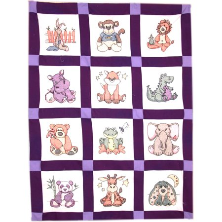 Baby Quilt Blocks.Fairway Stamped Baby Quilt Blocks 9 X9 12 Pkg Stuffed Animal