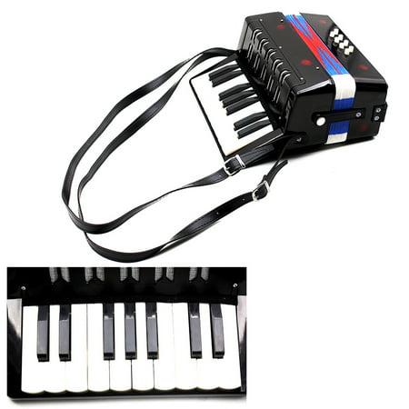 Kids Children 17-Key 8 Bass Mini Small Accordion Educational Musical Instrument Rhythm Band -