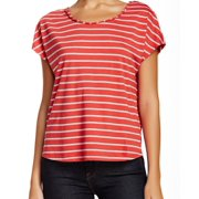 Two By Vince Camuto NEW Red Gray Women's Size Medium M Striped Blouse
