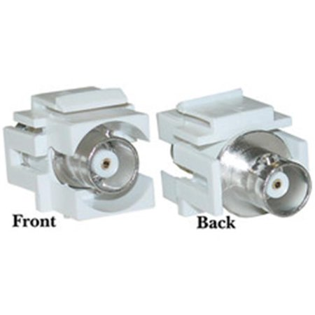 Keystone Insert, White, BNC Female Coupler