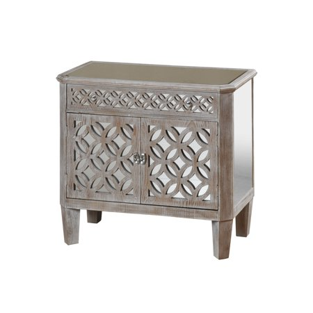 GwG Outlet Wood Chest in Grainy Washed Oak Finish