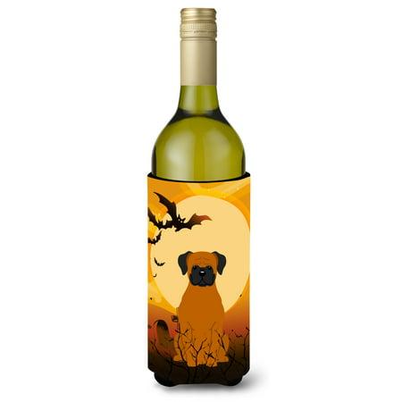 Halloween Fawn Boxer Wine Bottle Beverge Insulator Hugger BB4381LITERK](Halloween Decorated Wine Bottles)
