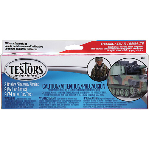 Testors Enamel Paint Set, Military