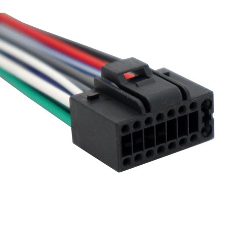 Kenwood KDC-108 Aftermarket Stereo Radio Receiver Replacement Wire on kenwood kdc 158 wiring, kenwood kdc 248u cd receiver wiring, kenwood kdc 108 wiring, kenwood kdc-152 manual,