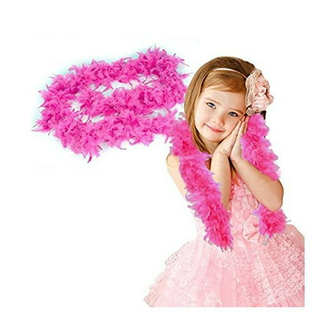 Pink Feather Boa - Dress Up Toy or Accessory For Costume Parties, Halloween - One Sizs Fits All, Kids and Adults - 76