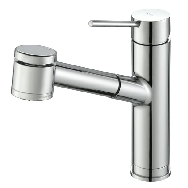 KRAUS Oletto™ Single Handle Pull Out Kitchen Faucet in Chrome Finish