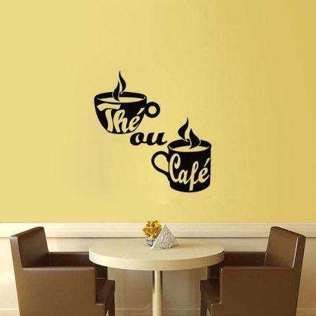 Coffee Cup Wall Stickers Poster Paster Decals Wallpaper Home Drawing Room Decoration Kitchen Tile - image 5 of 6