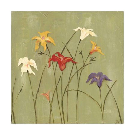 Jeweled Lilies I Print Wall Art By Jade Reynolds