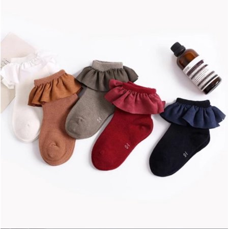 Cute Infant Toddler Baby Girls Cute Cotton Soft Princess Combed Socks Booties 1 - Infant Dress Socks