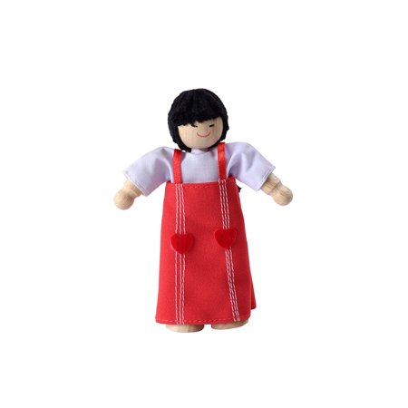 Plan Toys Asian Mom Doll  Cheerful Asian Mom Doll From Plan Toys Is A Great Addition To Your Childs Dollhouse Family And The Perfect Size For Almost Any Dollhouse On    By Plantoys