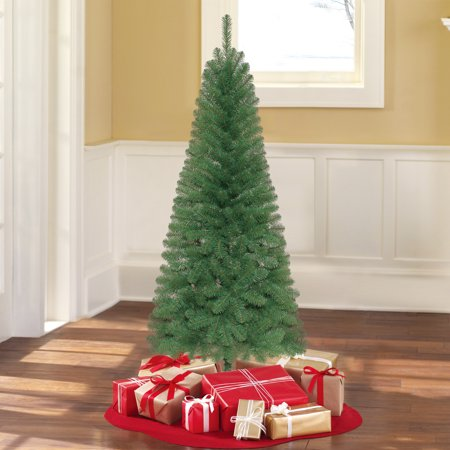 Holiday Time Unlit 6' Wesley Pine Artificial Christmas Tree ...