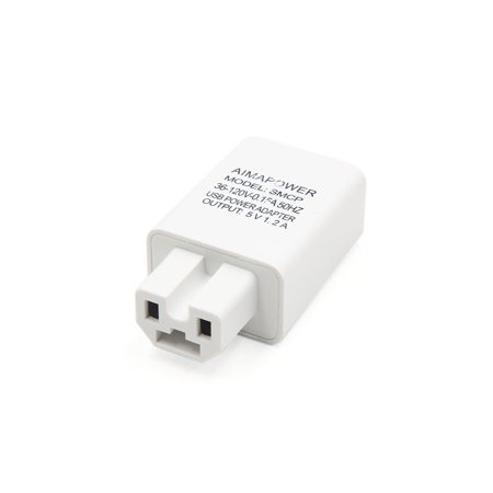 5V 1.2A Output Electric Car USB Mobile Phone Power Supply Charge Adapter White