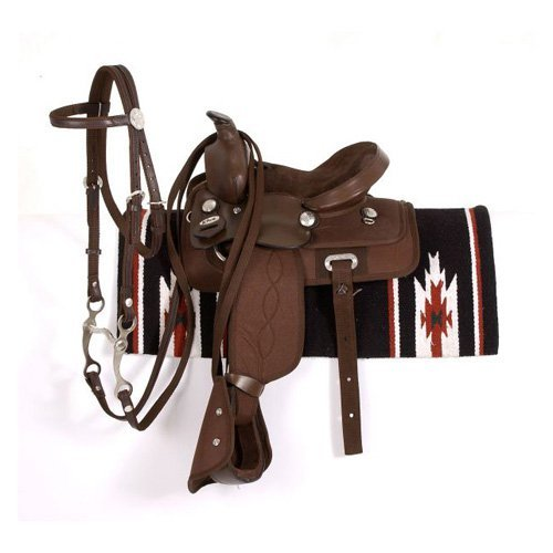 King Series Krypton Synthetic All Around Saddle Set