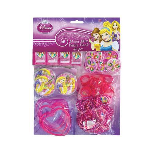 Disney Princess Mega Mix Favor Pack (For 8 Guests) - Party Supplies