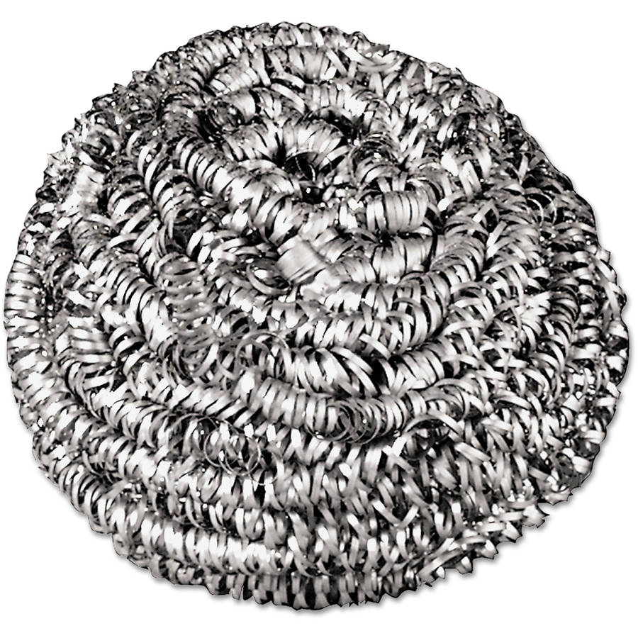 Boardwalk Medium Size Stainless Steel Scrubbers, 72 count