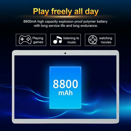 10.1inch 8G+512G WiFi Tablet Android 8.0 HD 1960 x 1080 Bluetooth Game Tablet Computer With Dual Camera Support Dual SIM Card And Dual Standby Rose Gold - image 7 of 9
