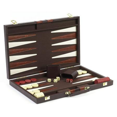 - Cambor Games Elite 18 Inch Backgammon Set - Brown