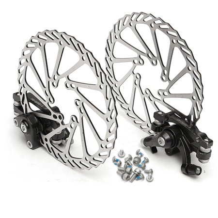 2pcs Bike MTB Mechanical Disc Brake Kit Front and Rear Brake WIth G2 Rotors Set for Mountain -