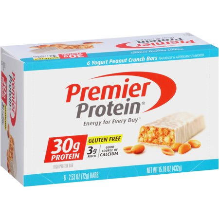 Premier Protein Yogurt Peanut Crunch Protein Bars  2 53 Oz  6 Count