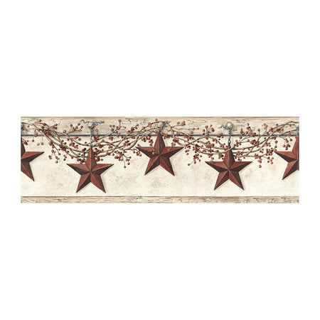 York Wallcoverings Best Of Country HK4664BD Hanging Star