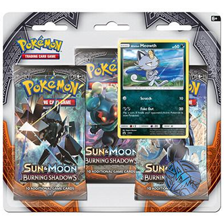 Pokemon TCG - Burning Shadows 3-Pack Blister featuring Alolan