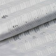 """54""""x 4 Yards White / Silver Iridescent Party Sequin Design Polyester Fabric Bolt"""