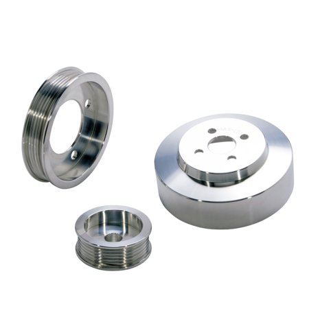 BBK 94-95 Mustang 5.0 Underdrive Pulley Kit - Lightweight CNC Billet Aluminum (3pc)