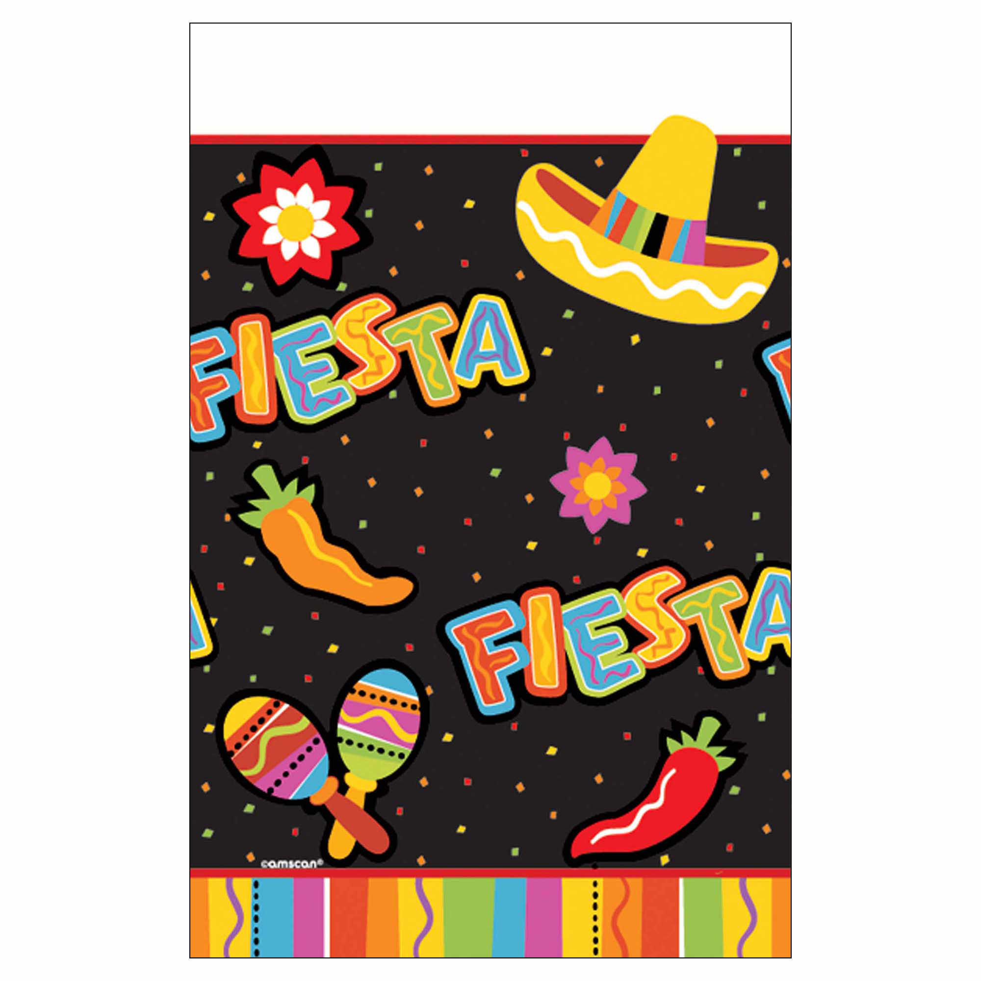 "Fiesta Fun Paper Table Cover 54"" x 96"""