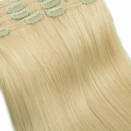 Woman At The Well Craft (FLORATA Remy Human Clip in Hair Extensions Full Head 8 Piece 18 Clips 140grams Well Crafted Double Wefts For woman any Party or Special Occation(100% Human hair)