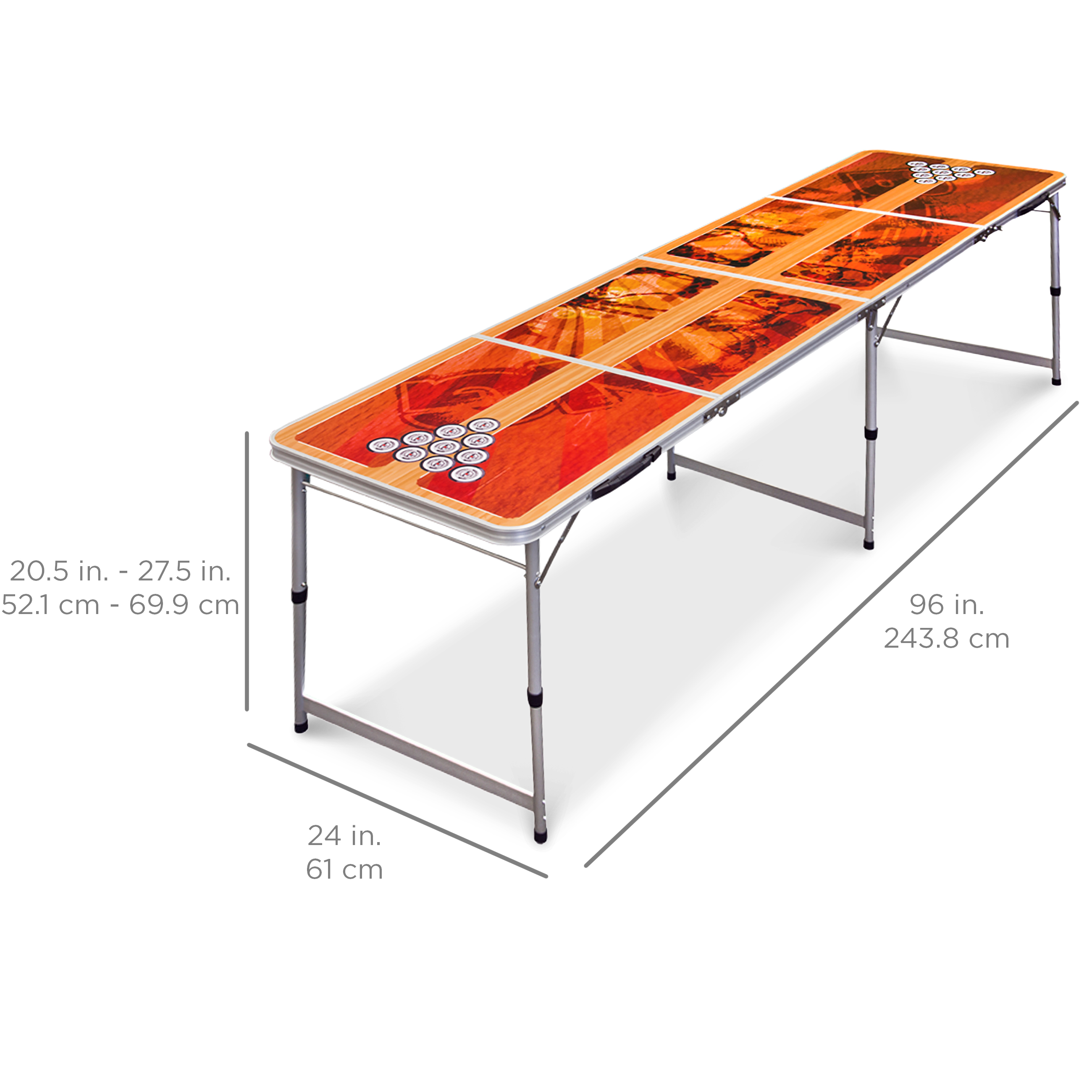 Best Choice Products Beer Pong Table 8u0027 Portable Folding Outdoor Indoor College Party New  sc 1 st  Walmart & Beer Pong Tables