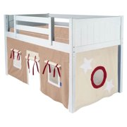 Childrens Curtain w Adhesive Velcro Attachments for Low Loft Bed (Curtain Only)