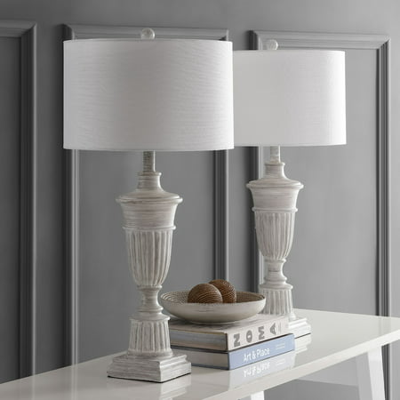 Safavieh Kylen Natural 31 in. H Table Lamp, White Wash, Set of 2