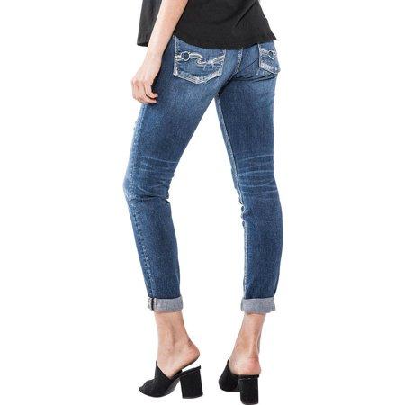 ef48a6c7 Silver Jeans - Silver Jeans Sam Slim Leg Distressed Boyfriend Jeans  L27107SSX333 - Walmart.com