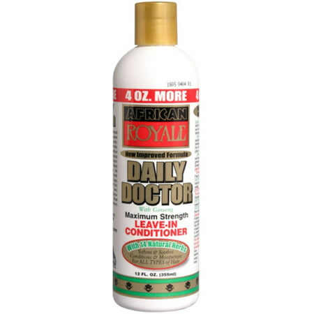 3 Pack - African Royale Daily Doctor Maximum Strength Leave-In Conditioner, 12
