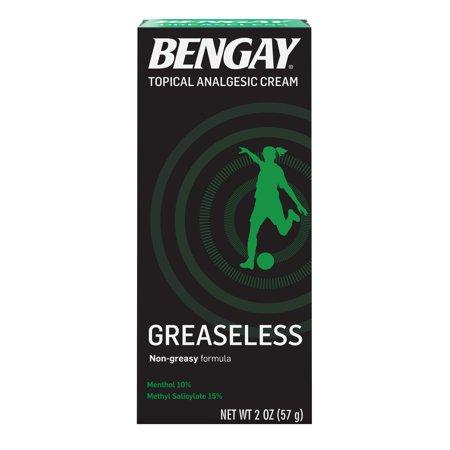 Greaseless Bengay Cream, Non-Greasy Pain Relief, 2 oz