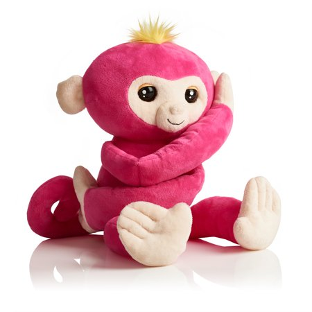 - Fingerlings HUGS - Bella (Pink) - Interactive Plush Monkey by WowWee