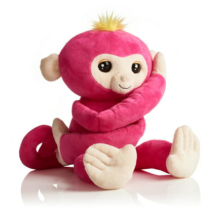 Fingerlings HUGS - Bella - Friendly Interactive Plush Monkey - Pink