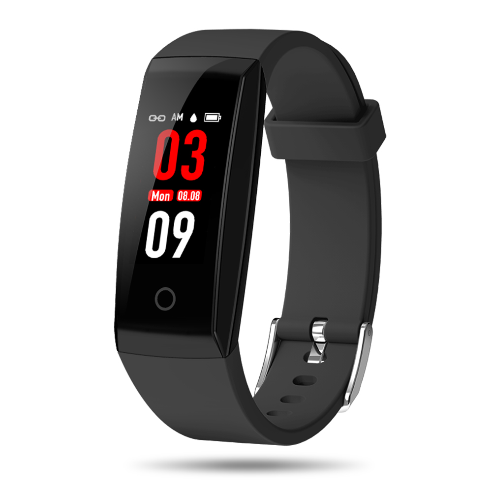 Smart Watch Sports Bracelet Countdown Stopwatch Sports Wristband Fitness Workout Distance Tracker Sleeping Heart Rate Monitor Built-in USB Charge Interface