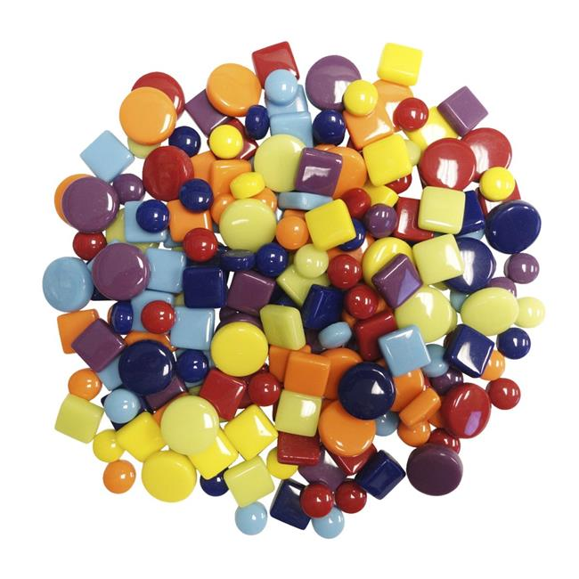 Diamond Tech International 1593637 Mosaic Dots, Spots, & Squares, Assorted Colors - 3 lbs