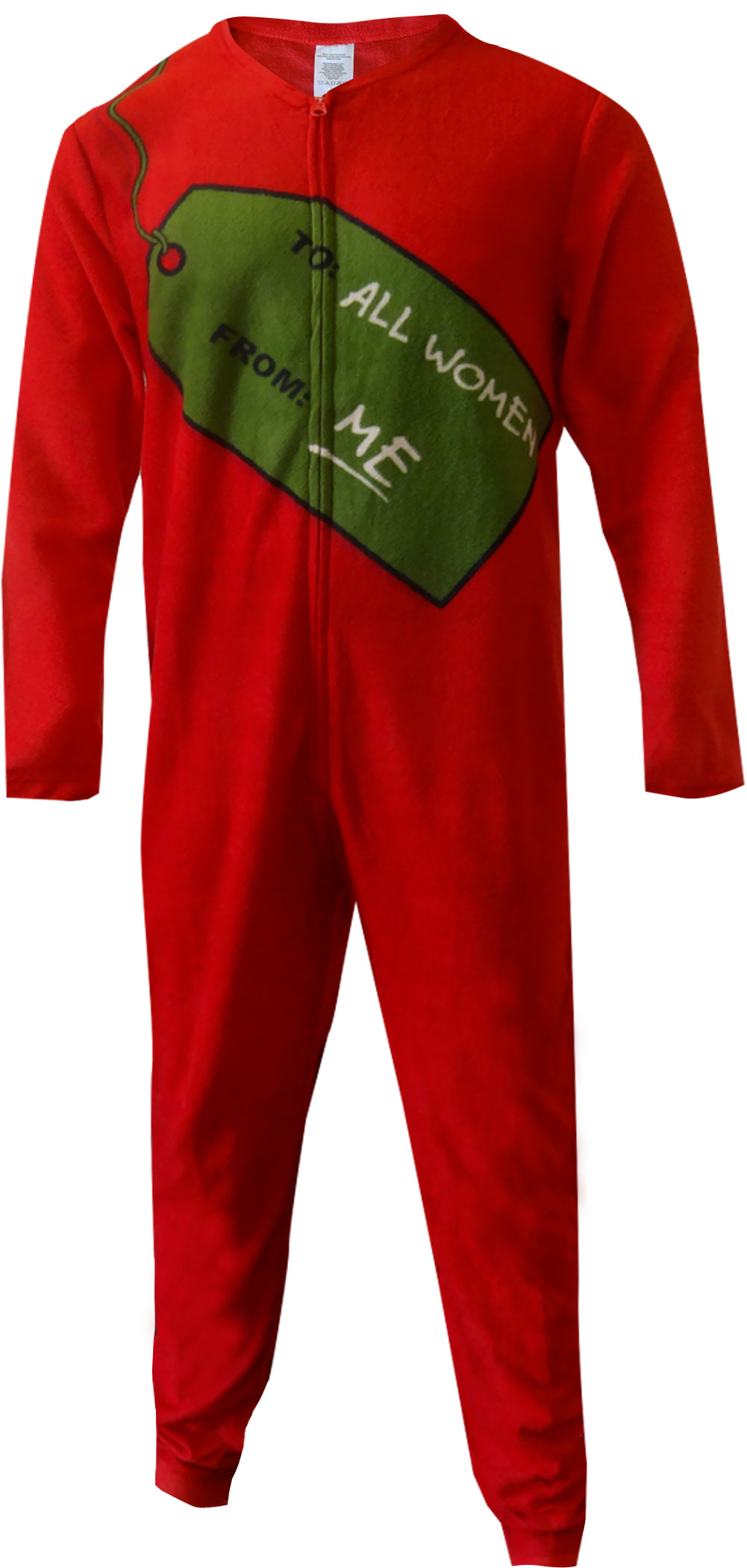 bioworld merchandising christmas present gift to all women one piece union suit pajama walmartcom
