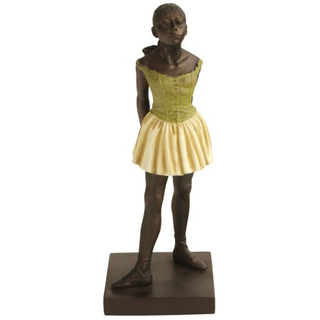 Degas Little Dancer - Little Dancer by Degas Statue, Bronze with Multicolor Detail, 12 Inches