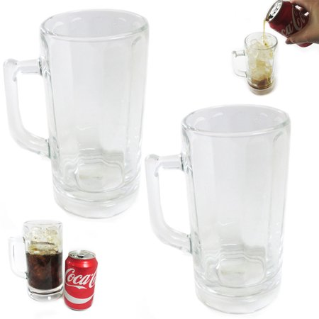 Souvenir Stein - 2 Pc Beer Glass Mug Freezer Frosty 20 oz Cold Stein Chilled Frozen Drink Cup Bar